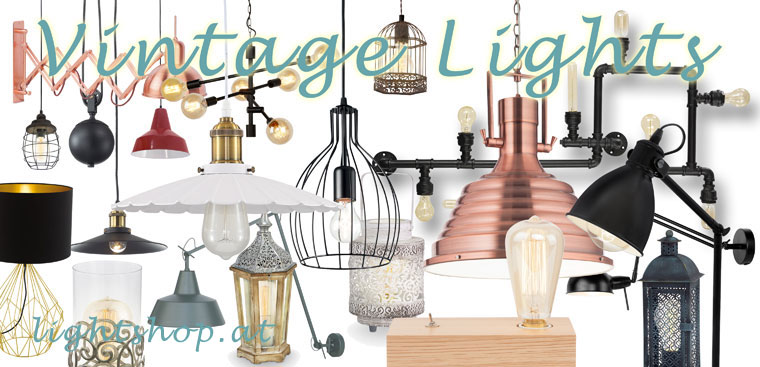 vintage lamps, retro design, old style