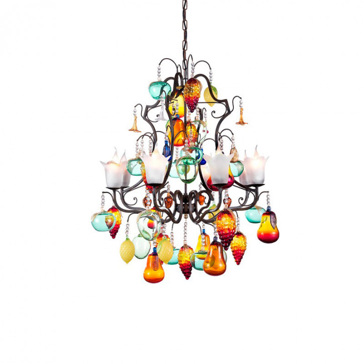 Chandelier with fruits and flowers