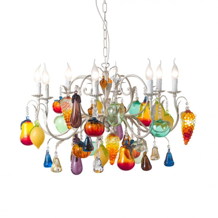 Chandelier with fruits and vegetables