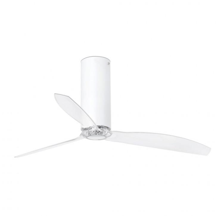 Ventilatore a tubo Fan lucido bianco/trasparente con motore DC