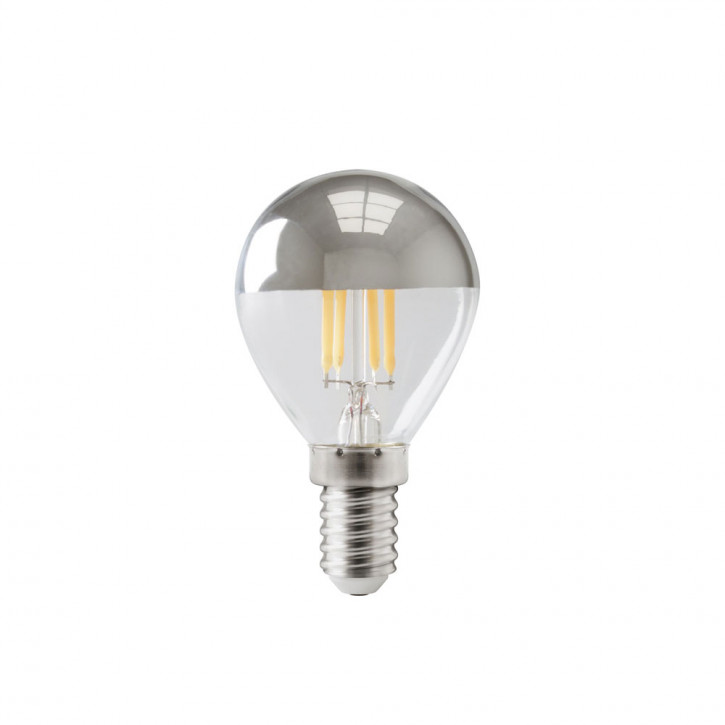 LED filament mini bulb domed E14 4W 310lm 2700K dimmable