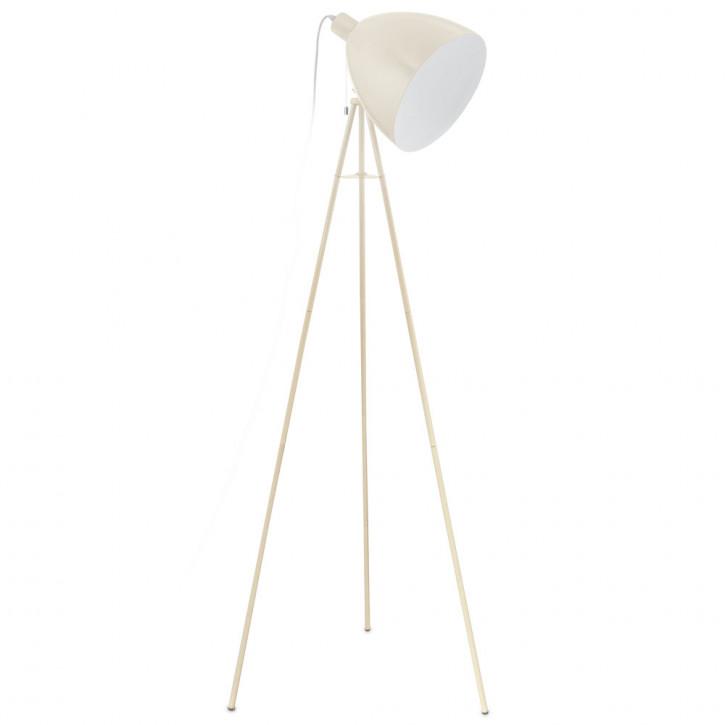eglo stehleuchte stahl sandfarben e27 60w 230v. Black Bedroom Furniture Sets. Home Design Ideas