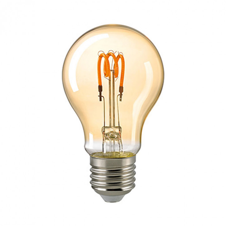 LED Filament Birne Spiral Gold E27 3,5W 125lm 2000K dimmable