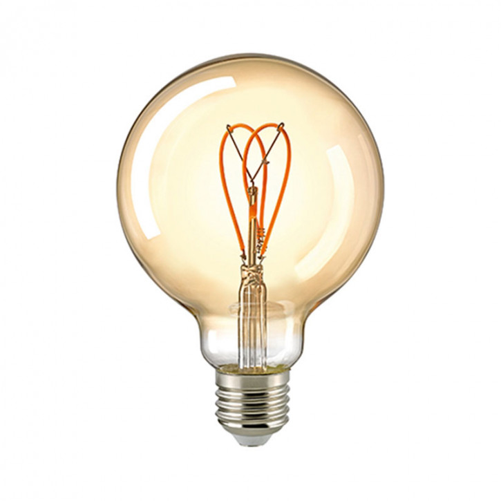 LED Filament Globe Loop Gold E27 5.5W 250lm 2000K dimmable