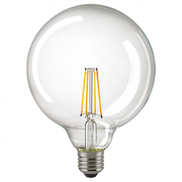 Sigor LED-Glühfaden Globe125 klar E27 7W 860lm 2700K CRI>90 dimmbar