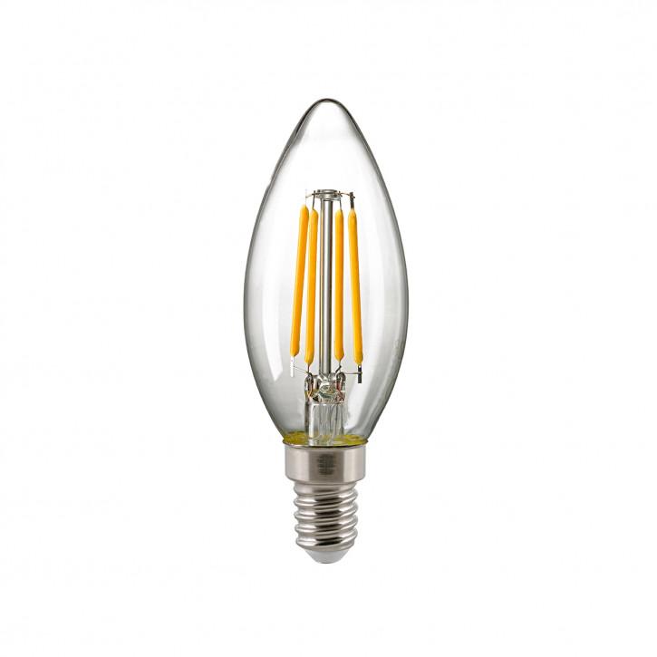 Sigor LED-Glühfaden Kerze klar E14 5W 630lm 2700K CRI>90 dimmbar