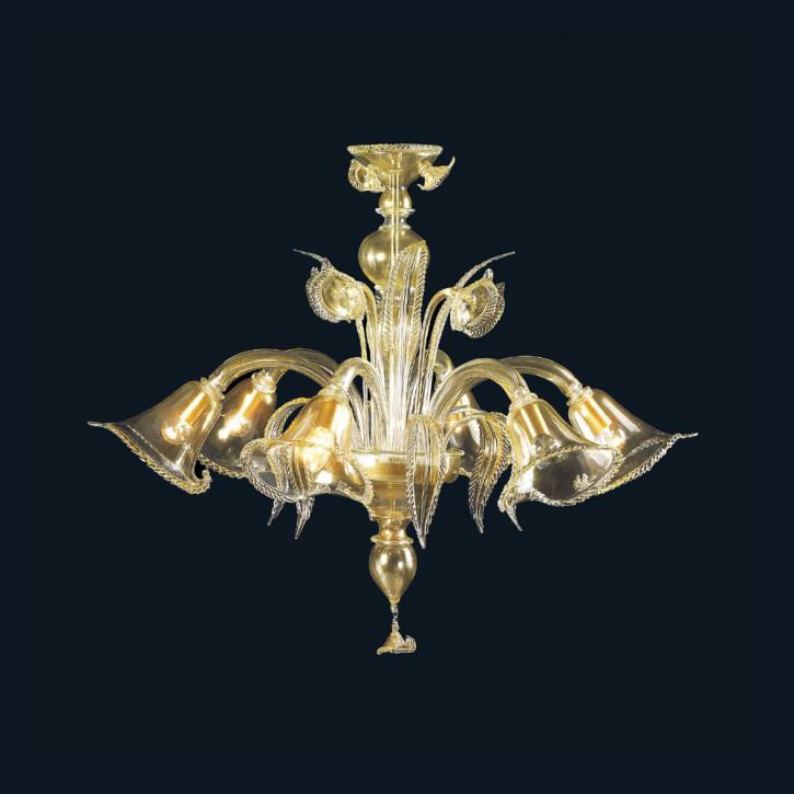 Murano Glas Leuchter mit 24K Gold