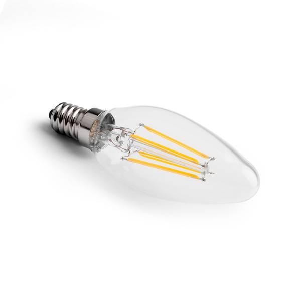 Bougie LED E14 4W 2700K 350lm filament clair dimmable