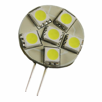 LED Retrofit G4 6 SMD 5050 1.3W CW