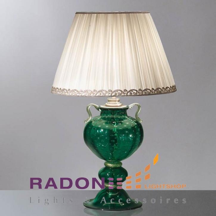 Luz de cristal de Murano verde / oro