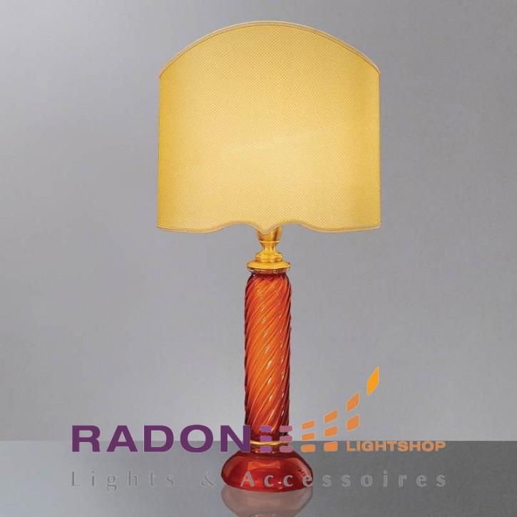 Lámpara de cristal de Murano 'Blanco / Ámbar / Oro