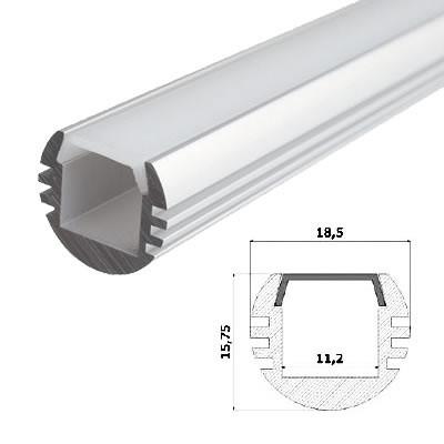 LED-Stripes Profil - 18.5 x 15.75 mm - blanco opal