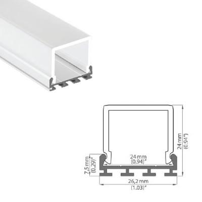 LED-Stripes Profil - 24 x 26.2 mm