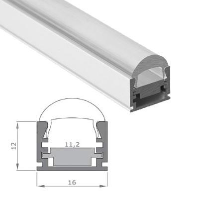 LED-Stripes Profil - 16 x 12 mm