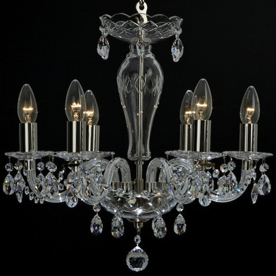Crystal chandelier 6-lights