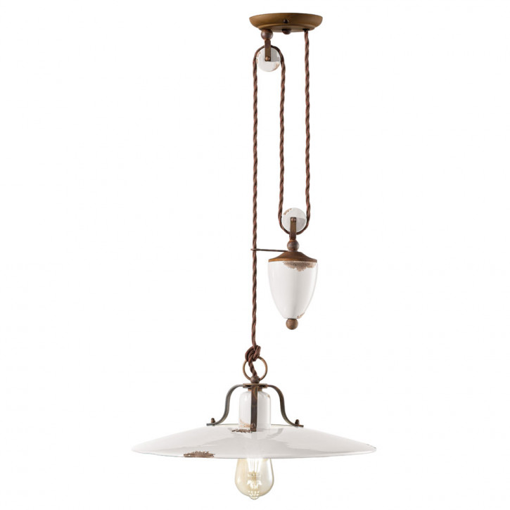 Pendant light in retro shabby look