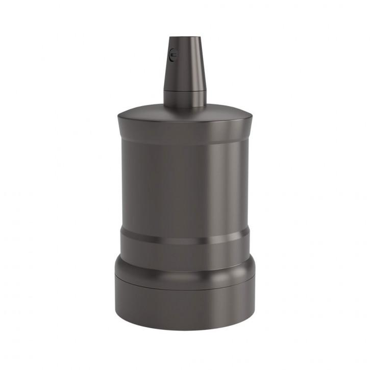 Lampenfassung E27 Satin Perle schwarz