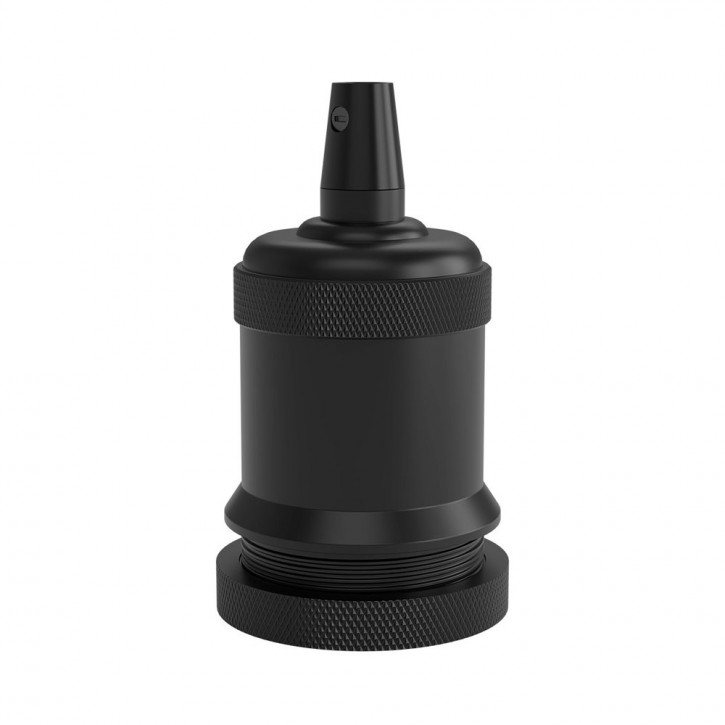 Lamp holder E27 satin matt black