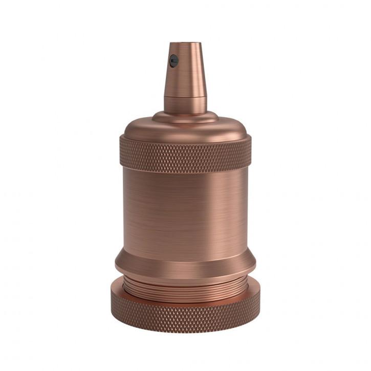 Portalámparas E27 cobre satinado