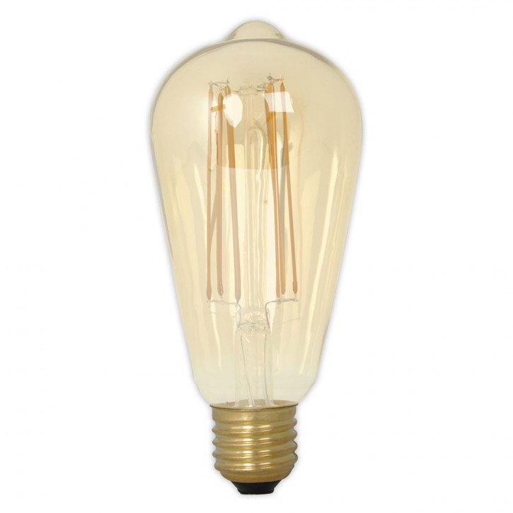 LED Filament Rustic ST64 4W E27 2100K Gold dimmbar