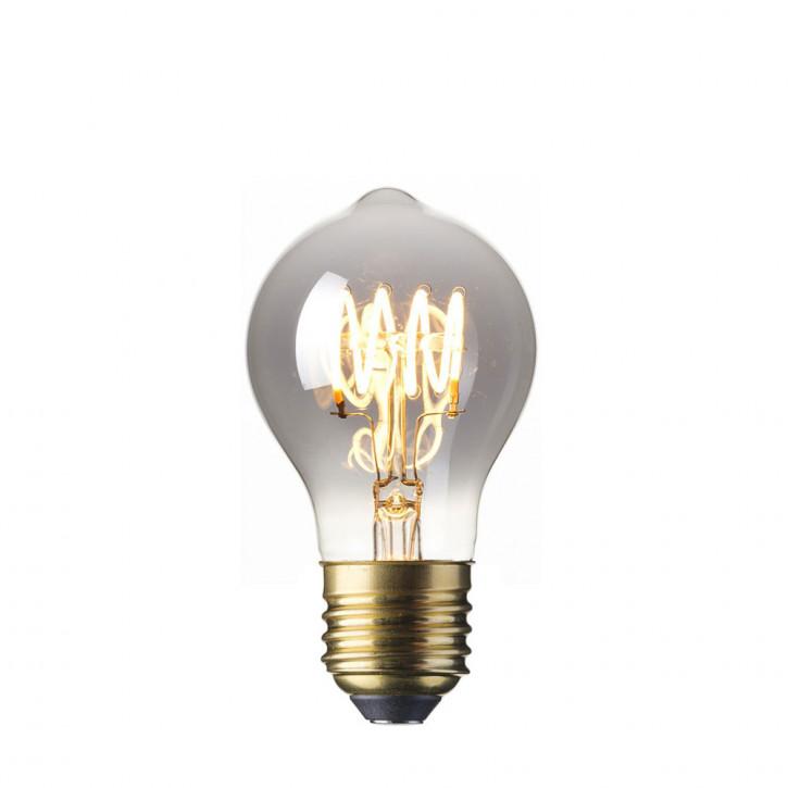 LED sólido filamento de vidrio Flex Globe 3.9W titanio 100lm 2100K regulable