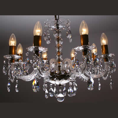 Crystal chandelier 8-lights