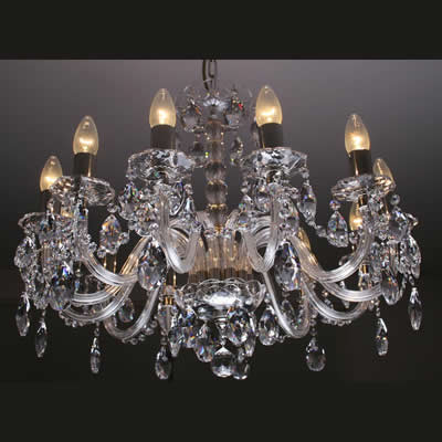 Crystal chandelier 12 lights