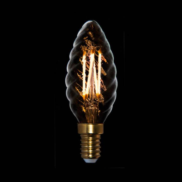 LED Kerze gedreht 2,5W E14 2200K dimmbar