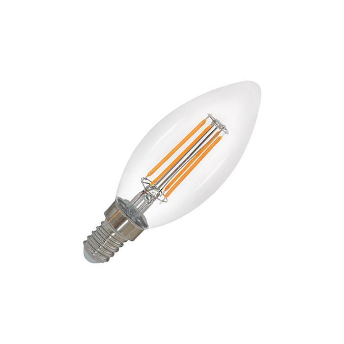 EGB Filament Kerze klar E14 5W 480lm 2700K dimmbar