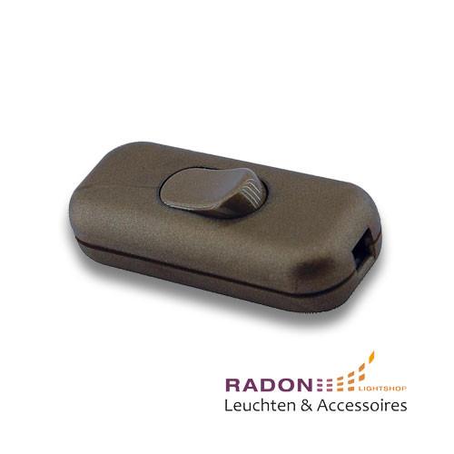 Interruptor basculante intermedio marrón