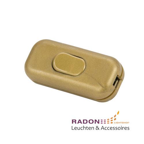 Interruptor basculante 2A dorado