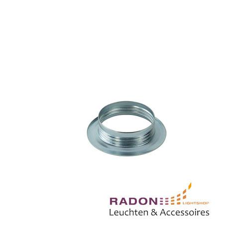 Überwurfmutter für Gewindemantel-Fassung E27 Metall - chrom