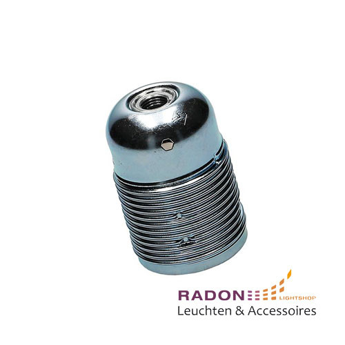 Metal socket, external thread E27 chrome