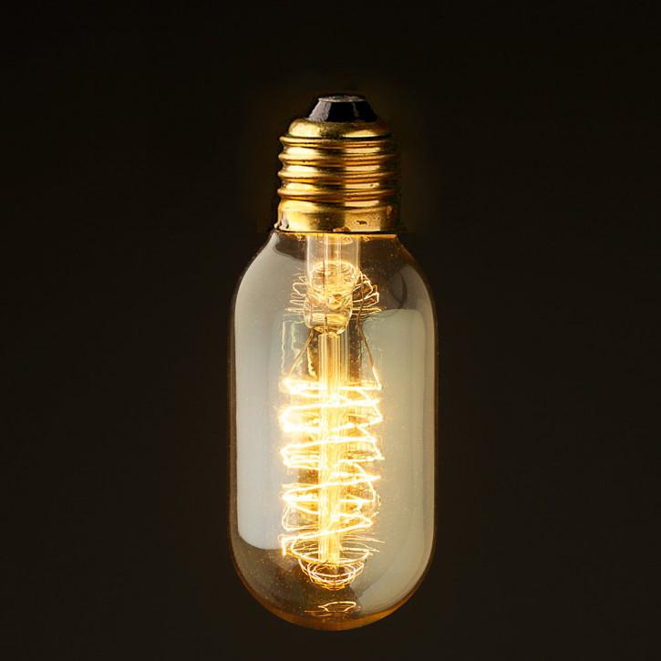 Vintage Edison Spiral tube bulb 240V 40W E27