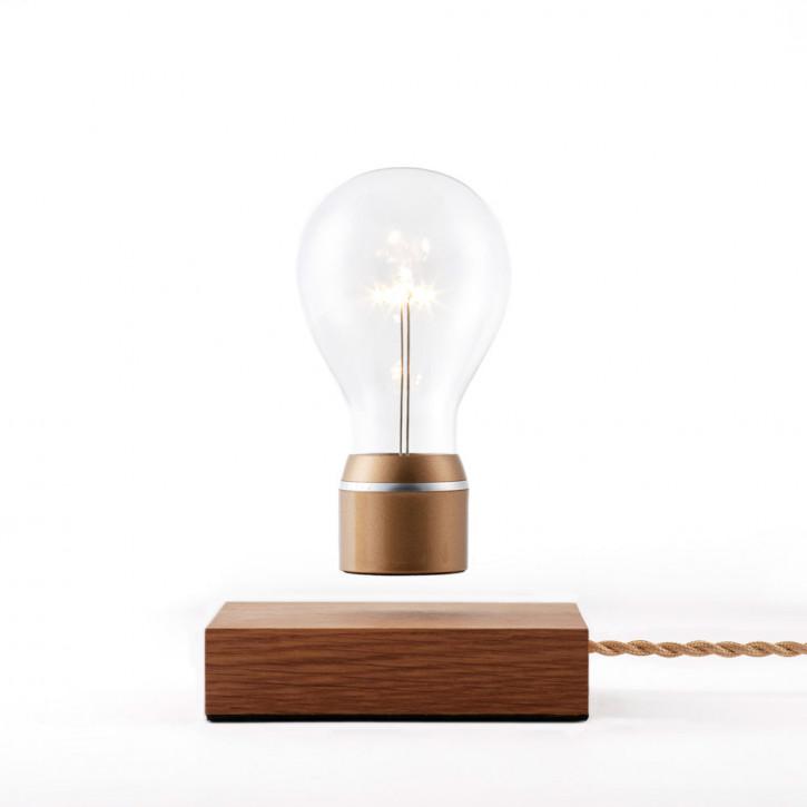 Flyte Royal Eiche Basis Glühbirne mit Goldkappe