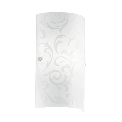 Amadora - Ersatzglas - matt-weiß mit Ornamenten
