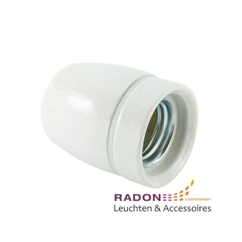 Porzellan Lampenfassung E27 weiss