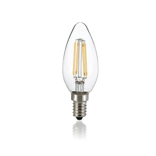 LED filament candle E14 4W 430lm 3000K