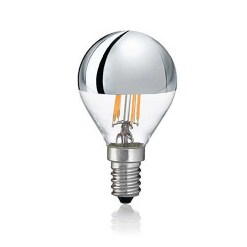 LED filament bulb E14 4W 300lm 2700K Head mirrored lamp