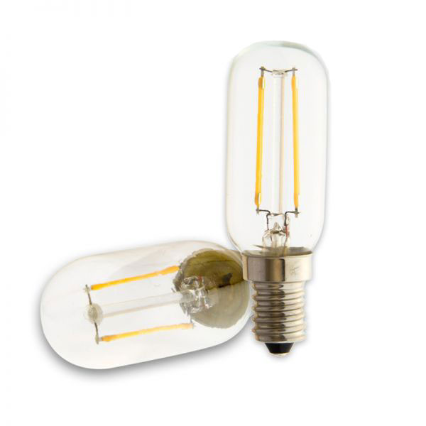 LED filament bulb E14 T26 2W clear 170lm 3000K