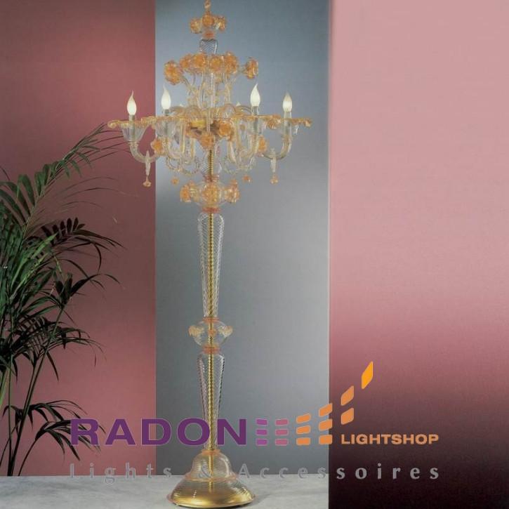 Cristal de Murano lámpara de pie clásica