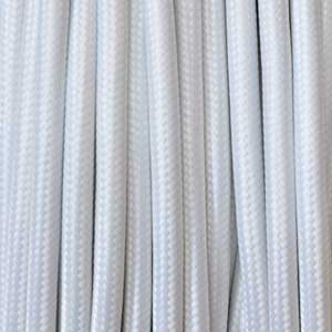 Cable textil 2x0,75mm² blanco