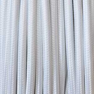 Textilkabel 2x0,75mm² weiss