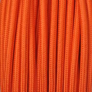 Textile cable 2x0,75mm² orange
