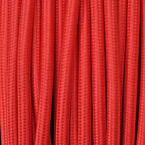 Textile cable 2x0,75mm² red