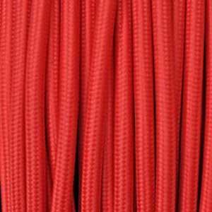 Câble textile 2x0,75mm² rouge