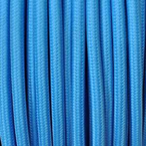 Textilkabel 2x0,75mm² türkis