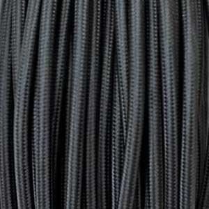Câble textile 2x0,75mm² noir