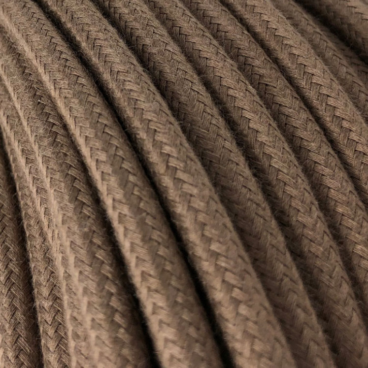Textile cable 3x0,75mm² cotton brown barley