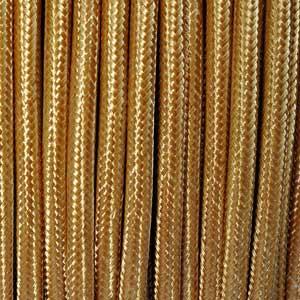 Textilkabel 3x0,75mm² gold